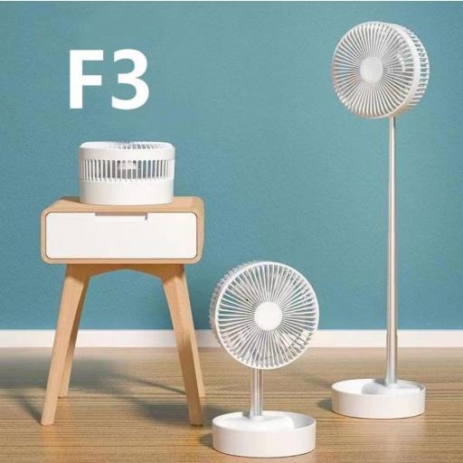 Ventilador plegable Apokin F3. Mando a distancia y batería recargable.