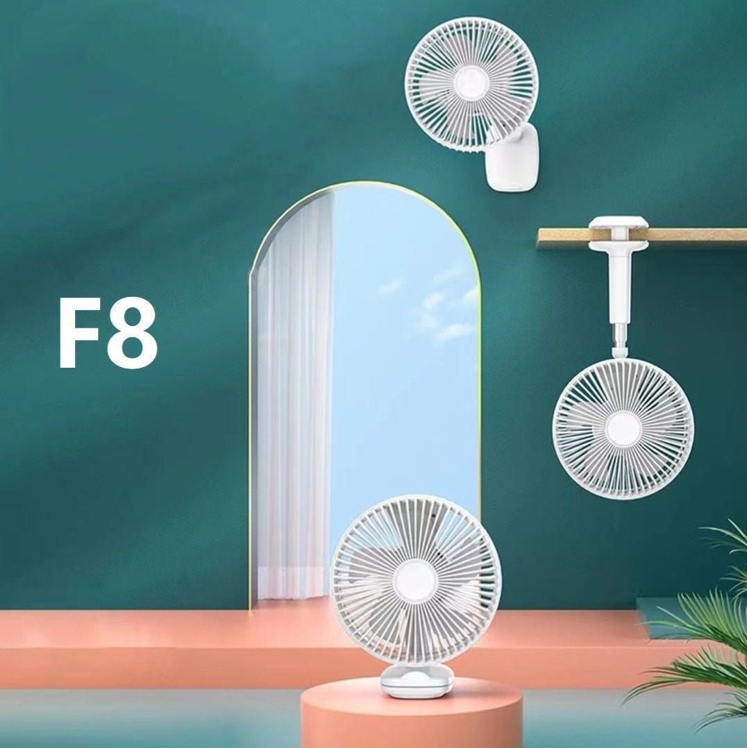 Ventilador plegable Apokin F8.  Mando a distancia y batería recargable.