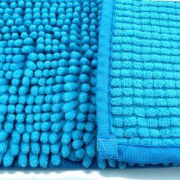 Alfombra de baño antideslizante alta absorción. Azul