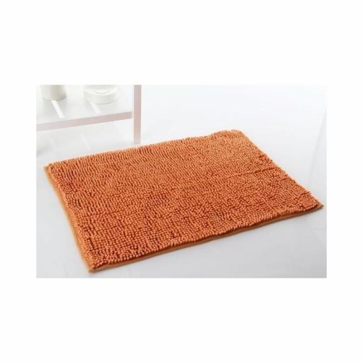 Alfombra de baño antideslizante alta absorción. Naranja [1]