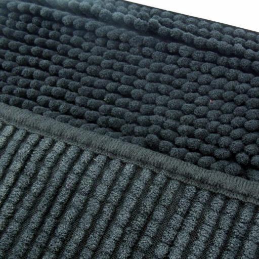 Alfombra de baño antideslizante alta absorción. Negro [1]