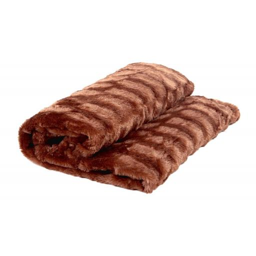 Manta / Plaid / Multiusos Llanes Chocolate