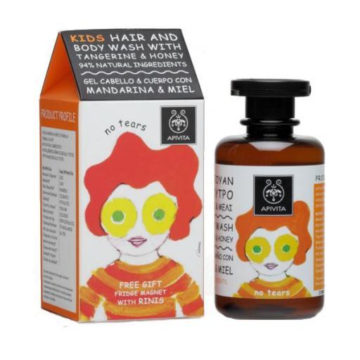 Champú y Gel de Baño Infantil de Mandarina y Miel