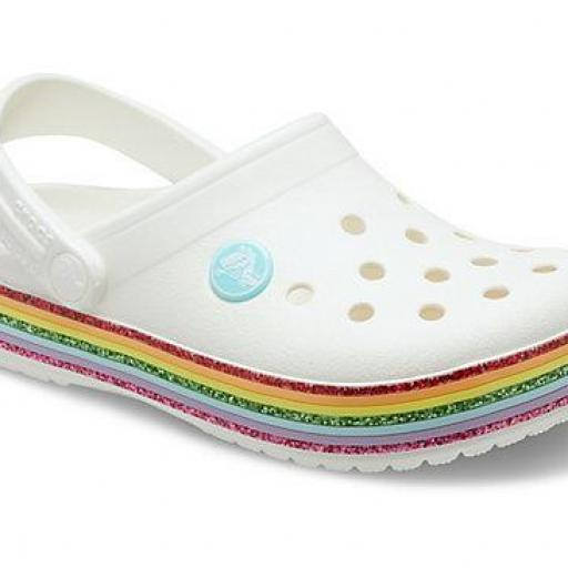 Sandalia juniorCROCS, CROCBRAN RAINBOW *339*