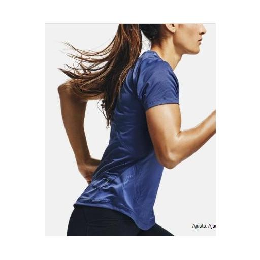 Camiseta tecnica mujer UA QUALIFIER ISO-CHILL EMBOSED, AZUL, *406* [1]