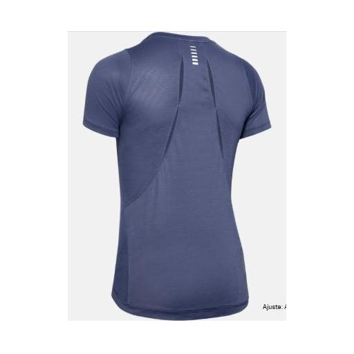 Camiseta tecnica mujer UA QUALIFIER ISO-CHILL EMBOSED, AZUL, *406* [2]