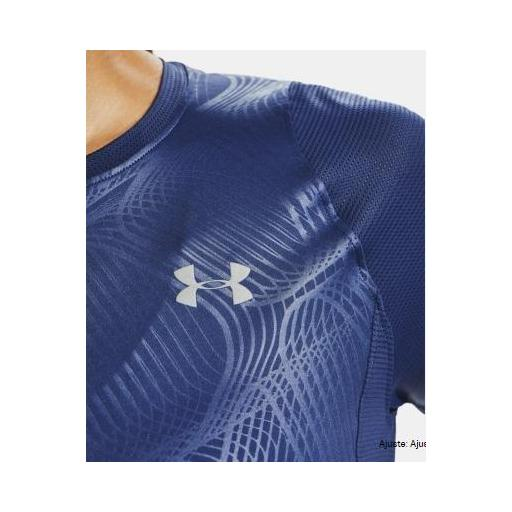 Camiseta tecnica mujer UA QUALIFIER ISO-CHILL EMBOSED, AZUL, *406* [3]