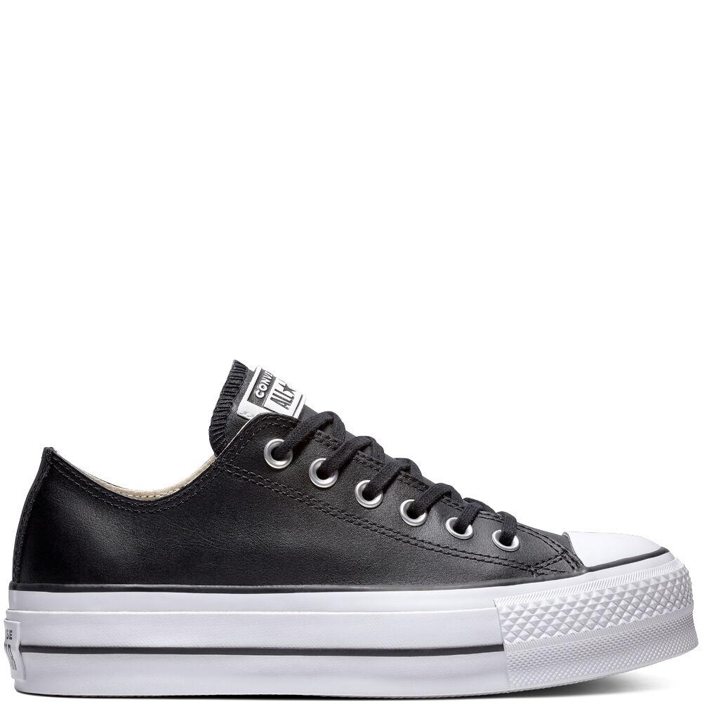 CONVERSE,  zapatilla mujer  All Star Lift Clean Low negro*4552*