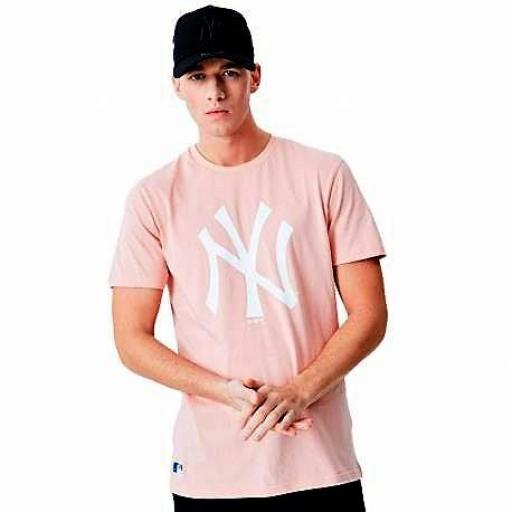 Camiseta NEW ERA N.Y.  salmon *7737*