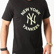 Camiseta NEW ERA N.Y. Negro/Amarillo *7611*