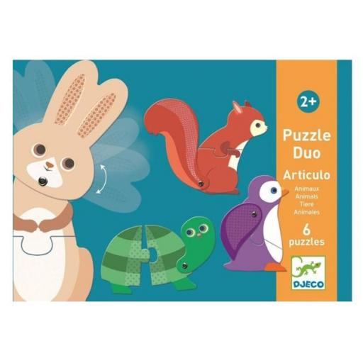 Puzzle duo: animales articulados