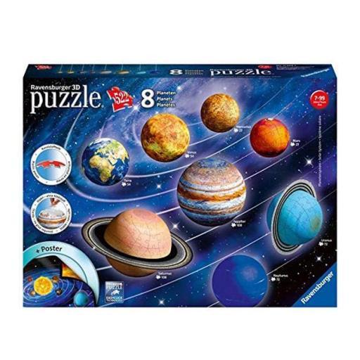 Puzzle 3D: ocho planetas