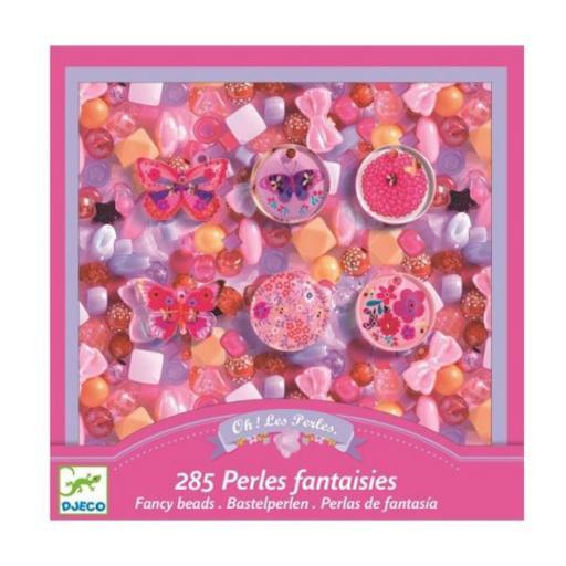 285 perlas de fantasía. Caja Rosa