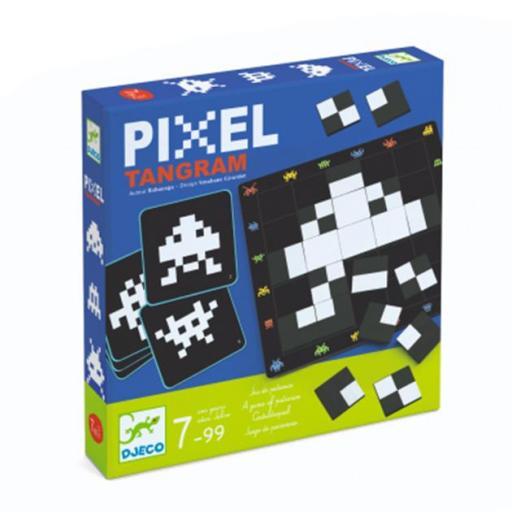 Pixel tangram