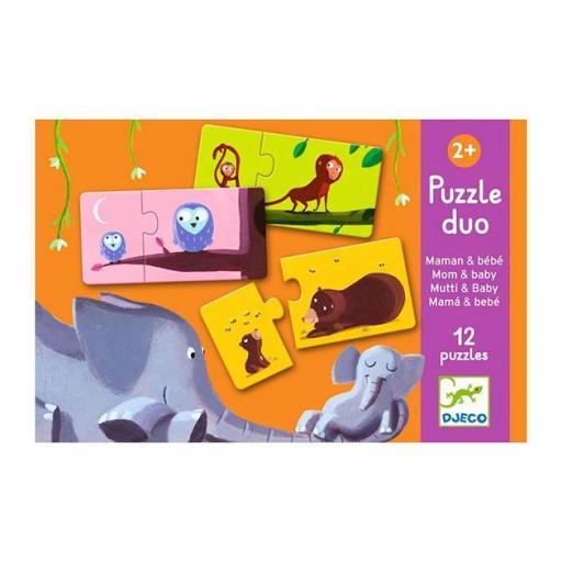 Puzzle dúo: mama y bebe