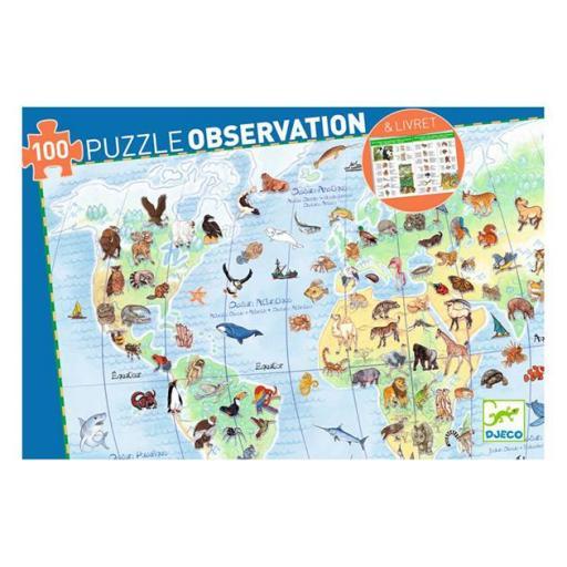 Puzzle observación: Los animales del mundo