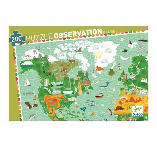 Puzzle observación: Mundo