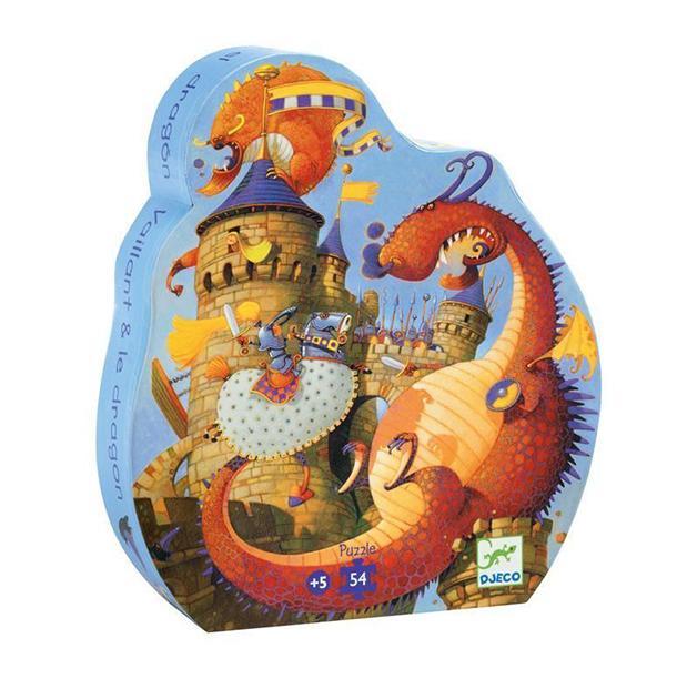 Puzzle vaillant y el dragón