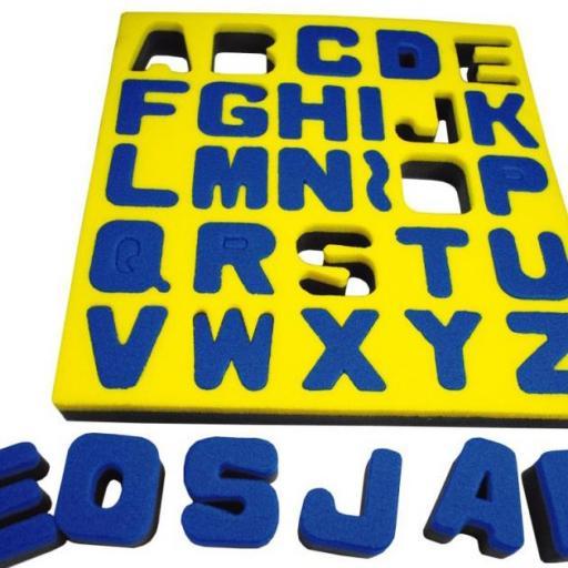Esponjas Alfabeto en Mayúsculas