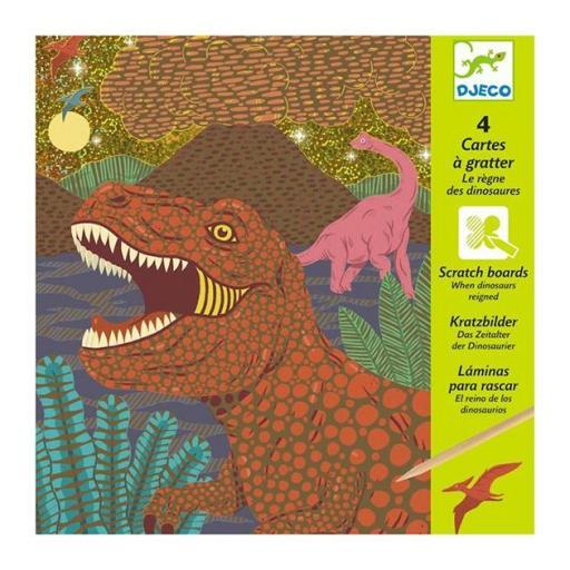 Láminas para raspar. El reino de los dinosaurios