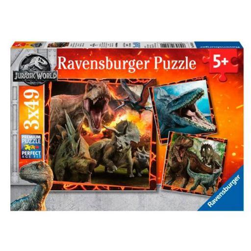 Tres puzzles dinosaurios