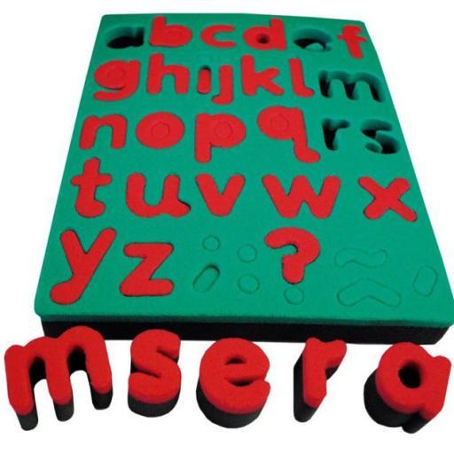 Esponjas Alfabeto en Minúsculas