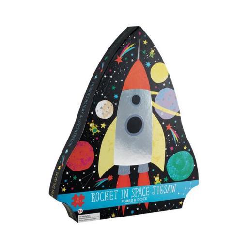 Puzzle cohete en el espacio