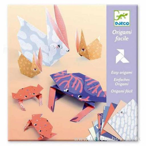 Origami fácil animales family
