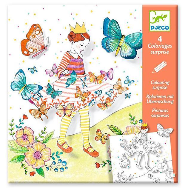 Pinturas sorpresa. Lady butterfly