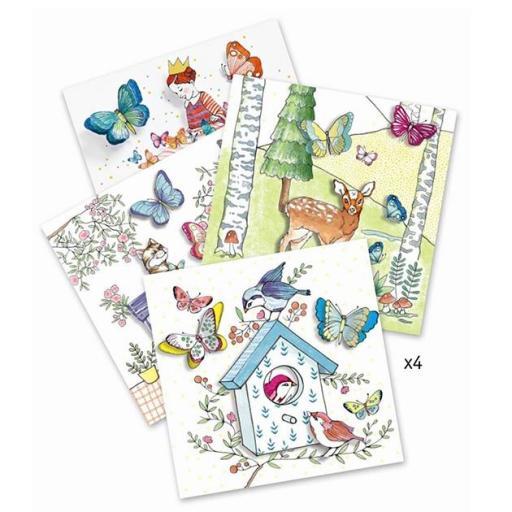 Pinturas sorpresa. Lady butterfly [1]