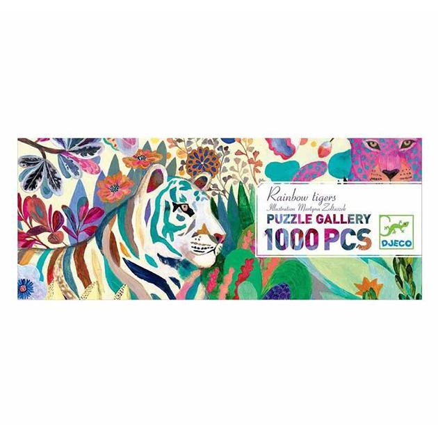 Puzzle rainbow tigers