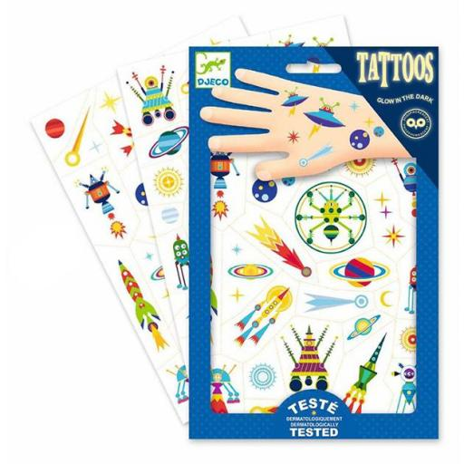 Tatuajes fosforescentes. Espacio