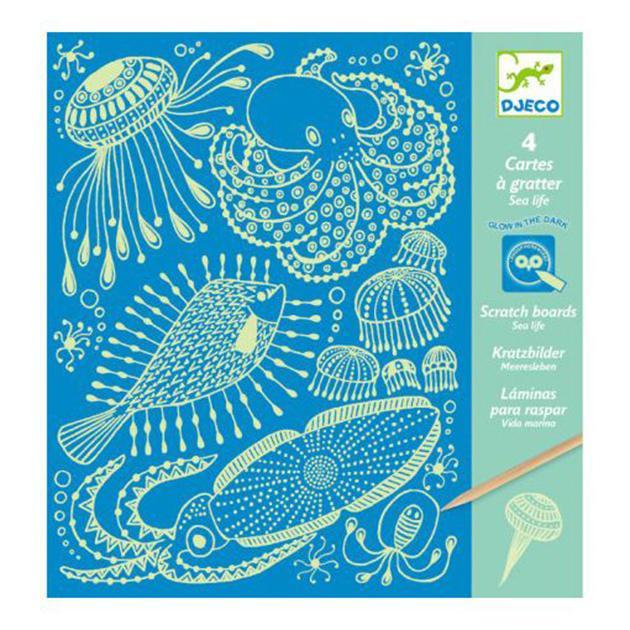 Láminas para raspar. Vida marina