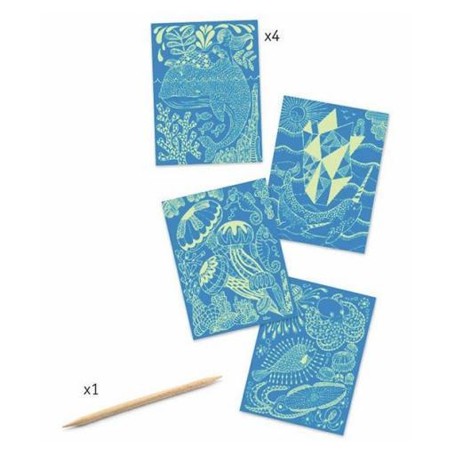 Láminas para raspar. Vida marina [1]