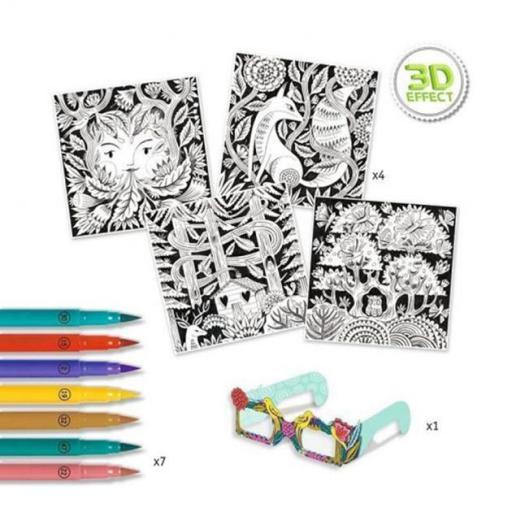 Colorear en 3d. Bosque fantástico [2]