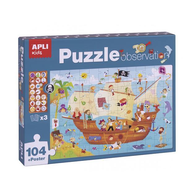 Puzzle observación barco pirata