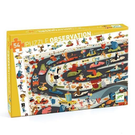 Puzzle observación. Rallye de coches