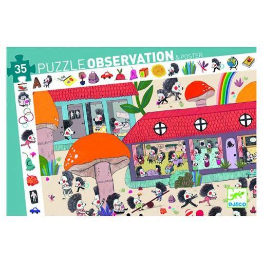 Puzzle observación. La escuela de erizos
