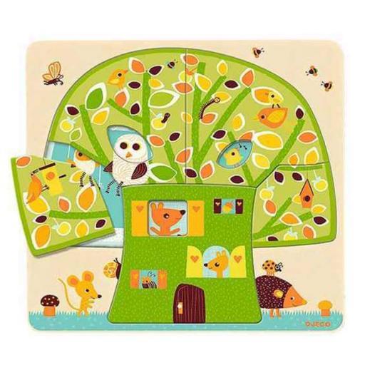 Puzzle 3 niveles Casita en el árbol