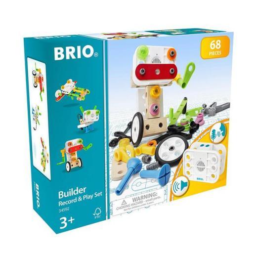 Brio builder record and play set: construcción 68 piezas