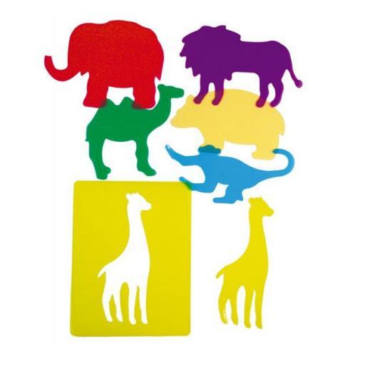 Plantillas animales del zoo traslúcidas