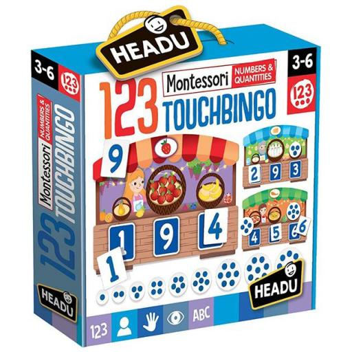 123 Montessori touch bingo