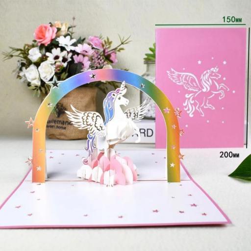 Postal pop-up unicornio