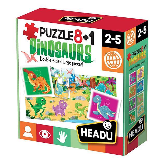 Puzzle 8+1 dinosaurios