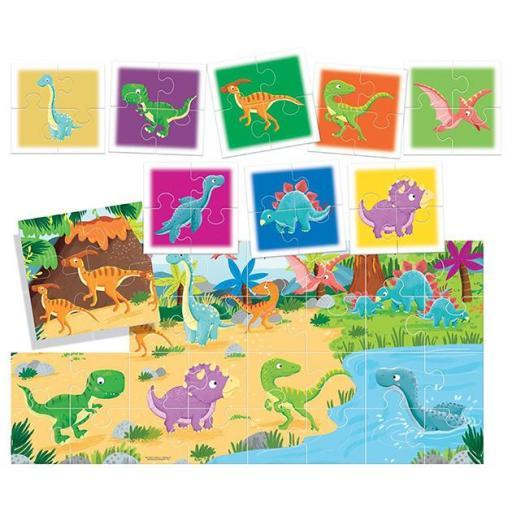 Puzzle 8+1 dinosaurios [1]