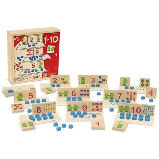 95 piezas sumas del 1 al 10