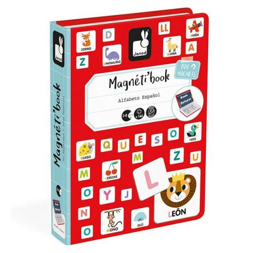 Magnetic book letters