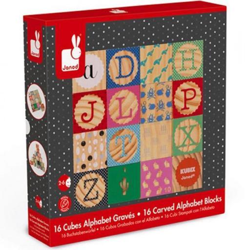 Cubos grabados alfabeto