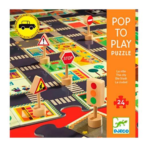 Pop to play. Puzzle la ciudad