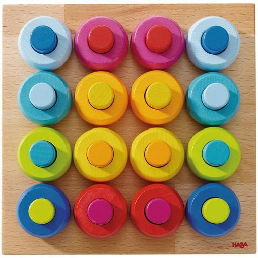 Juego para ensartar. Roscas de colores [1]